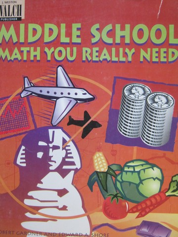 Middle School Math You Really Need (P) by Gardner & Shore