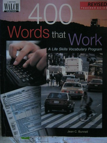 400 Words That Work Revised TG (TE)(P) by Jean C Bunnell