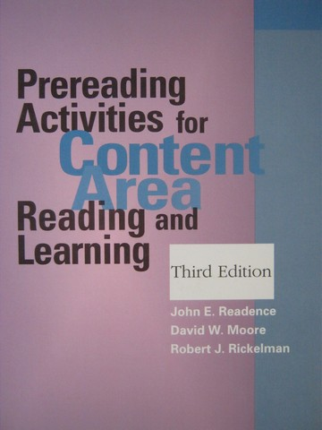 Prereading Activities for Content Area 3rd Edition (P)