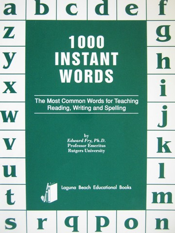 1000 Instant Words (P) by Edward Fry