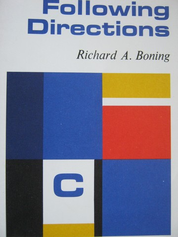 Specific Skill Series Following Directions Book C (P) by Boning