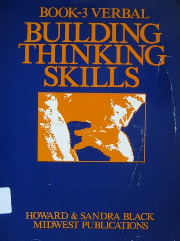 Building Thinking Skills Book 3 Verbal (P) by Black & Black