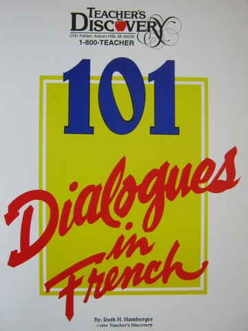 101 Dialogues in French (Spiral) by Ruth H Hamberger