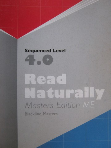 Read Naturally ME Sequenced Level 4.0 BLM (P) by Jane Matsoff