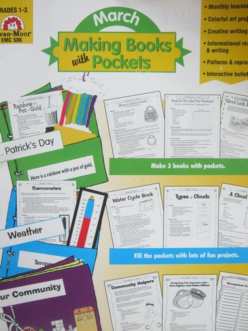 Making Books with Pockets March Grades 1-3 (P) by Barnett,