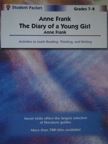 Novel Units Anne Frank Student Packet (P) by Green