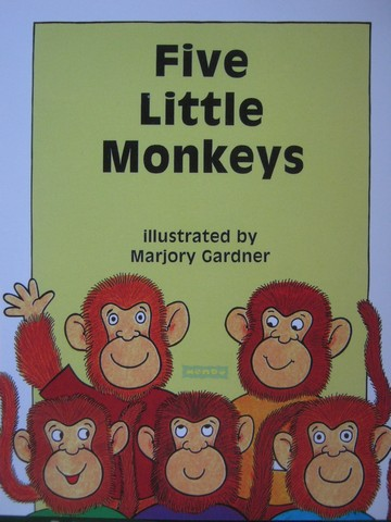 Book Shop E Five Little Monkeys (P) by Marjory Gardner