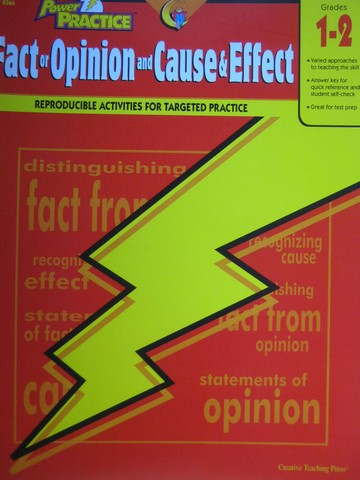 Power Practice Grades 1-2 Fact or Opinion & Cause & Effect (P)