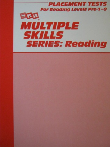Multiple Skills Series Reading 3e Placement Tests Pre-1-9 (P)