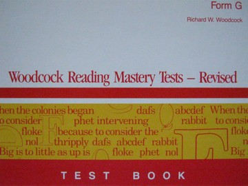Woodcock Reading Mastery Tests Revised Forms G & H Kits (Pk)