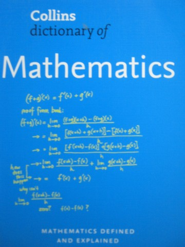 Dictionary of Mathematics 2nd Edition (P) by Borowski & Borwein