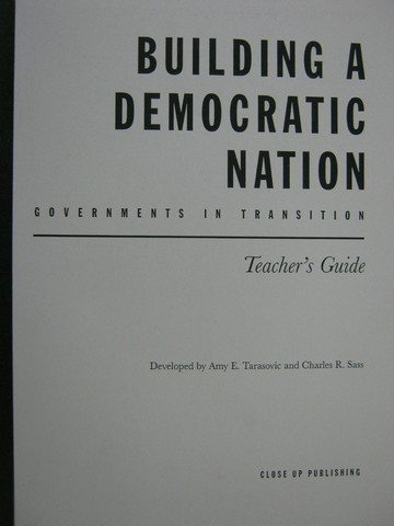 Building a Democratic Nation Governments in Transition TG(TE)(P)