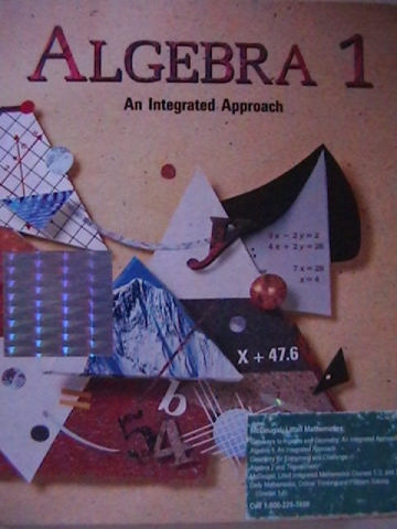 Algebra 1 An Integrated Approach (H) by Benson, Dodge,
