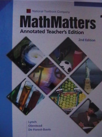 Math Matters 1 2nd Edition ATE (TE)(H) by Lynch, Olmstead,