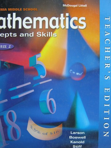 Mathematics Concepts & Skills Course 2 TE (CA)(TE)(H)