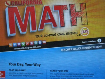 California Math Course 1 Common Core Volume 1 TWE (TE)(Spiral)