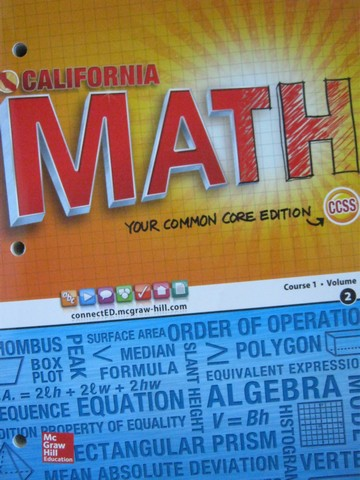 California Math Course 1 Common Core Volume 2 (CA)(P)