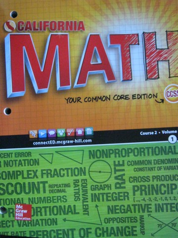 California Math Course 2 Common Core Volume 1 (CA)(P)