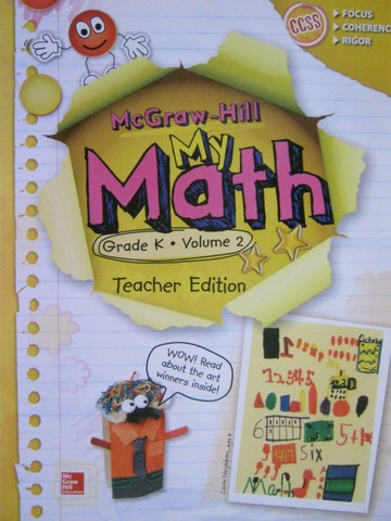 My Math K Volume 2 TE (TE)(Spiral) by Carter, Cuevas, Day,