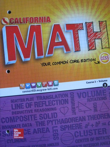 California Math Course 3 Common Core Volume 2 (CA)(P)