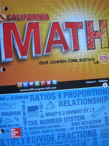 California Math Course 1 Common Core Volume 1 (CA)(P)