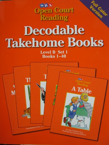 SRA Open Court Reading B 1-40 Decodable Takehome Books (P)