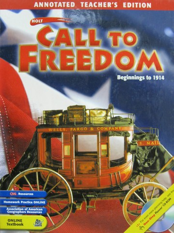 Call to Freedom Beginnings to 1914 ATE (TE)(H) by Stuckey,