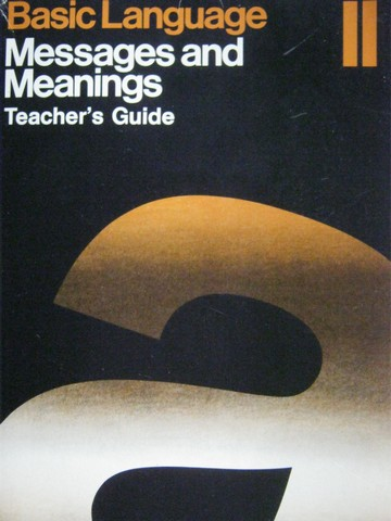 Basic Language Messages & Meanings 2 TG (TE)(P) by Greene,