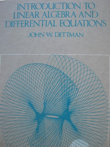 Introduction to Linear Algebra & Differential Equations (H)