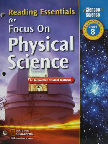 Focus on Physical Science Reading Essentials (CA)(P ...