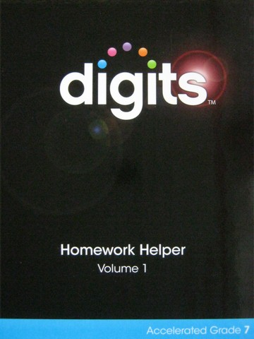 Digits Accelerated Grade 7 Homework Helper Volume 1 (H)