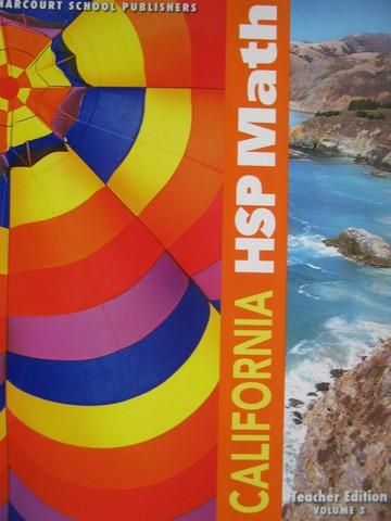 California HSP Math 5 TE Volume 3 CA TE Spiral By