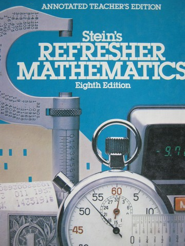 Stein's Refresher Mathematics 8th Edition ATE (TE)(H) by Stein