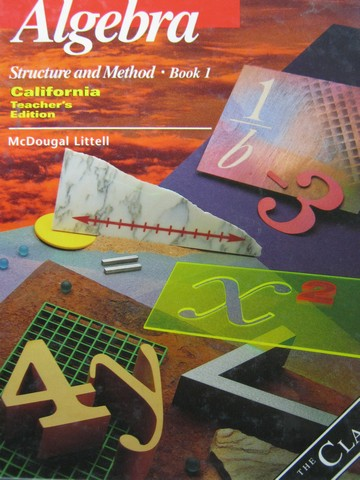 Algebra Structure & Method Book 1 TE (CA)(TE)(H) by Brown,