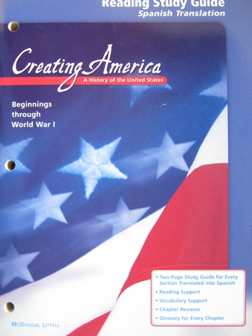 Creating America Reading Study Guide Spanish Translation (P)