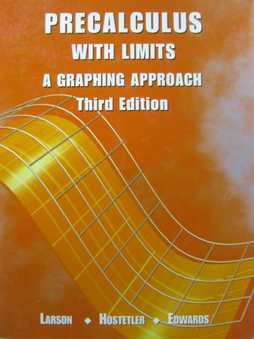 Precalculus with Limits 3rd Edition (H) by Larson, Hostetler,