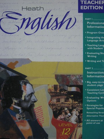 Heath English 12 TE (TE)(H) by J. A. Senn & Carol Ann Skinner