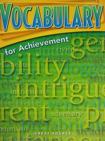 Vocabulary for Achievement 2nd Course (P) by Margaret Ann Richek