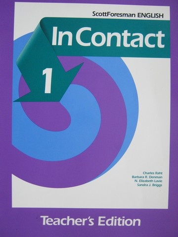 Scott Foresman English In Contact 1 TE (TE)(Spiral) by Raht,