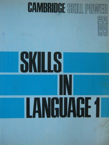 Cambridge Skill Power Series Skills in Language 1 (P)