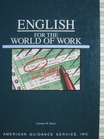 AGS English for the World of Work (H) by Carolyn W Knox