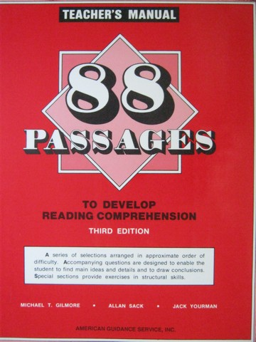 88 Passages to Develop Reading Comprehension 3rd Edition (TE)(P)