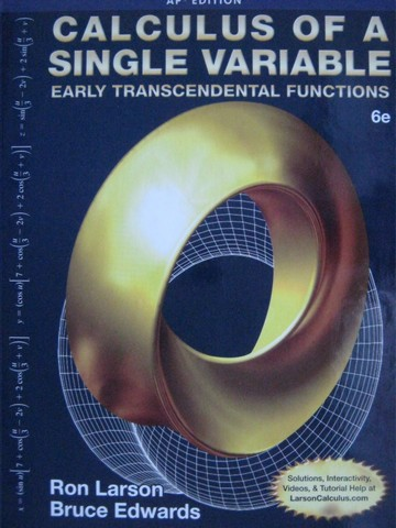 Calculus of a Single Variable Early Transcendental 6e AP (H)