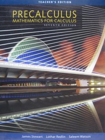Precalculus Mathematics For Calculus 7th Edition Te Te H