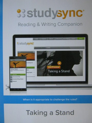 Studysync 10.2 Reading & Writing Companion (P)