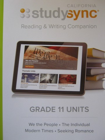 Studysync 11 Reading & Writing Companion (CA)(P)