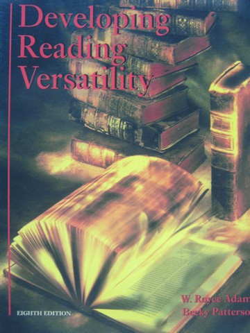 Developing Reading Versatility 8th Edition (P) by Adams,
