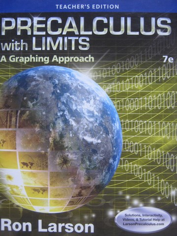 Precalculus with Limits A Graphing Approach 7th Edition TE