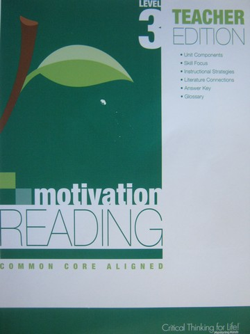 Motivation Reading Common Core Aligned 3 TE (TE)(P) by Lujan