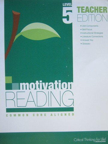 Motivation Reading Common Core Aligned 5 TE (TE)(P) by Lujan